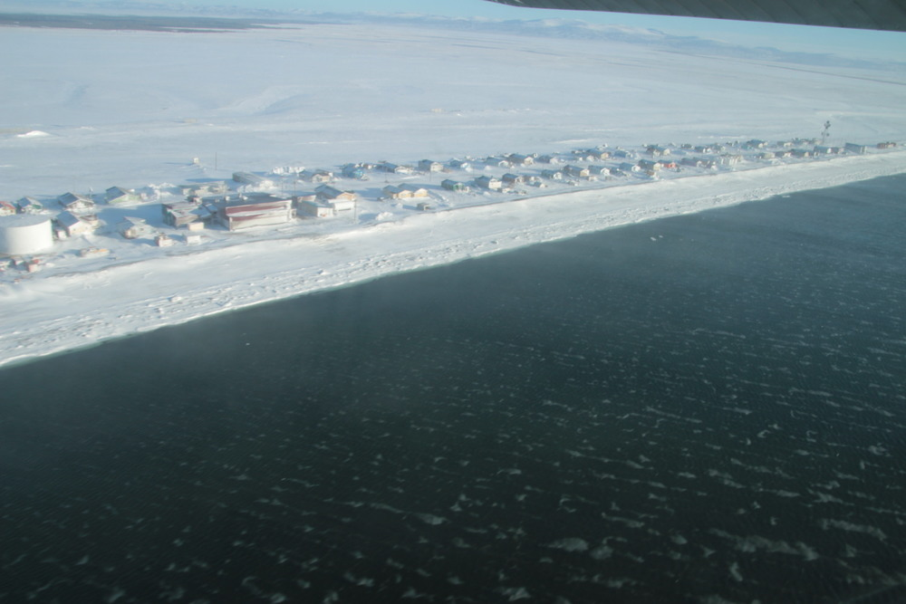 Shaktoolik from the air.