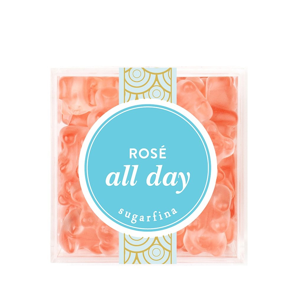 rosé infused gummy bears