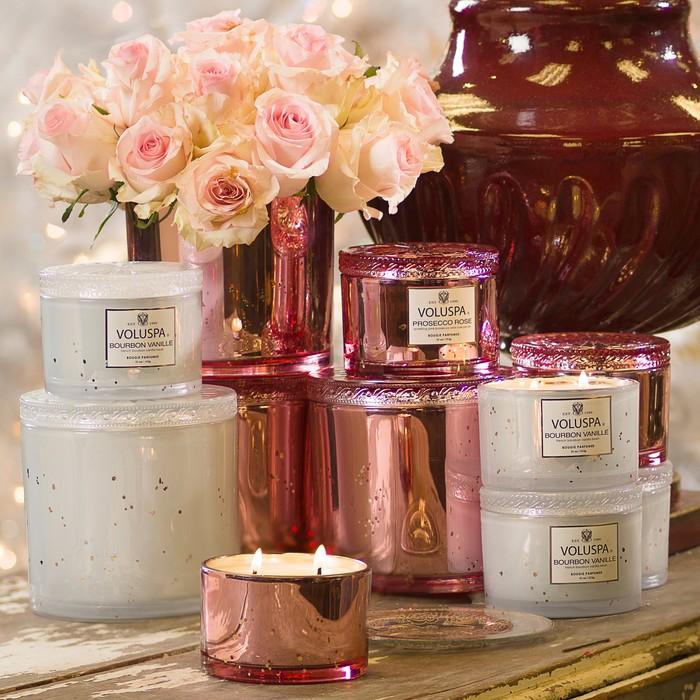 Prosecco Rose Corta Maison Candle $30