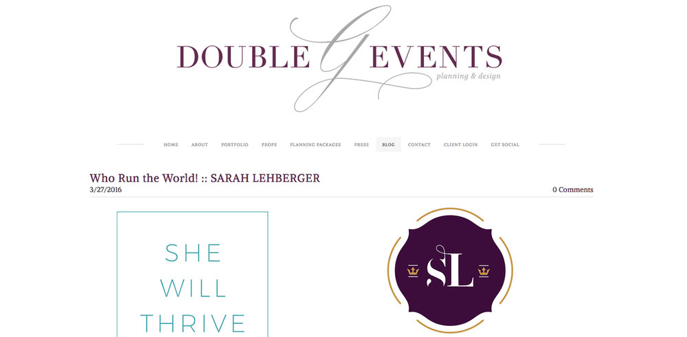 Double G Events interview with Sarah Lehberger