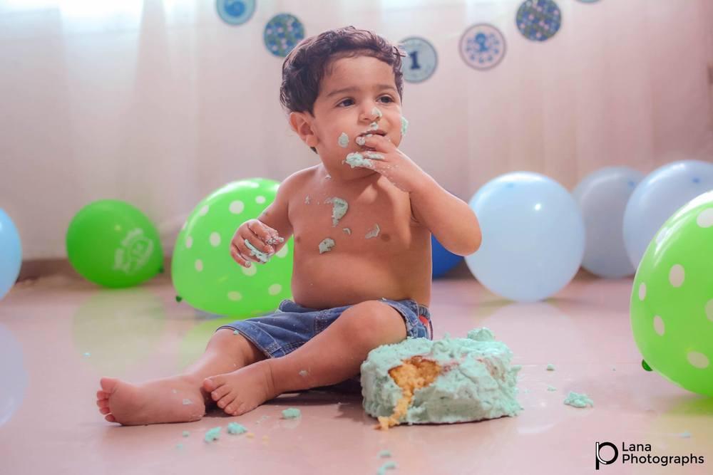Boy Cake Smash in Al-Ain