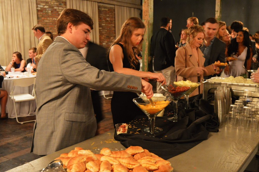Guests loved the mashed potato bar by Above and Beyond Catering.
