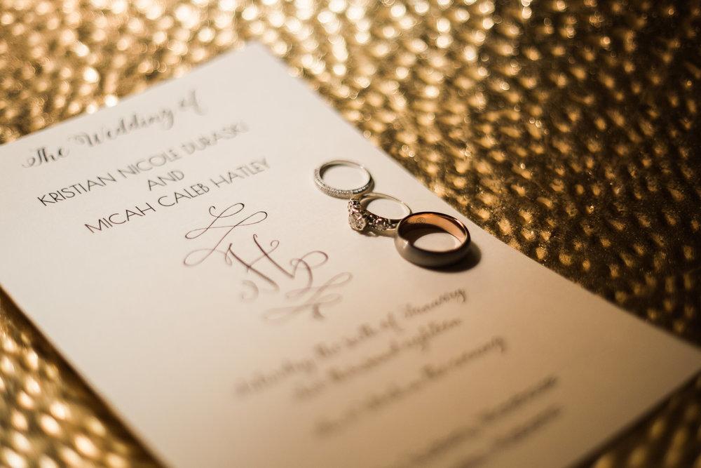 Kristian & micah's rings