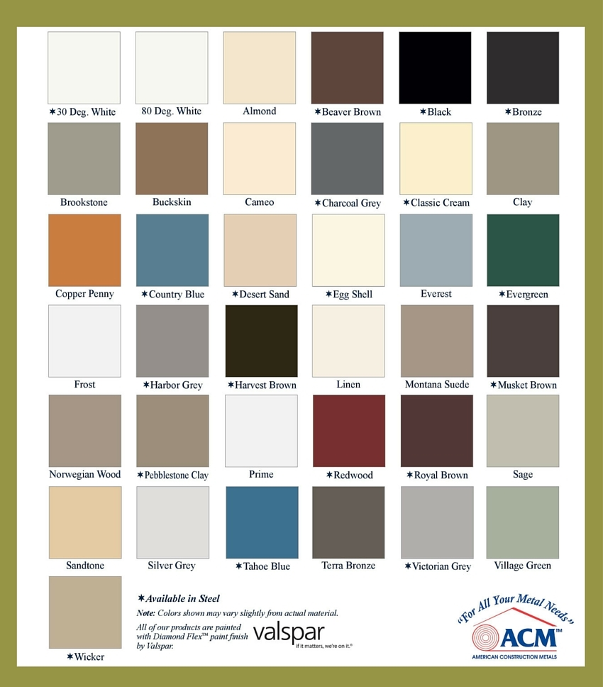ACM Color Chart