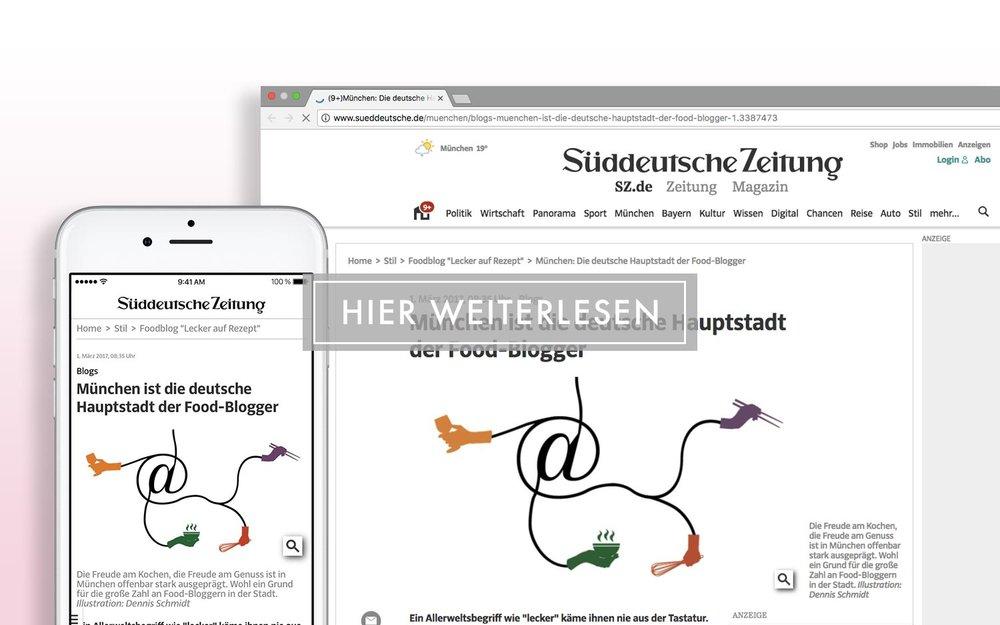 Süddeutsche Zeitung - München ist die deutsche Hauptstadt der Food-Blogger