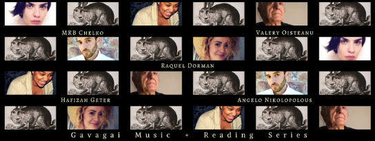 WEDNESDAY, Feb 22, 2017 @8pm, The Owl: MRB Chelko, Raquel Dorman, Hafizah Geter, Angelo Nikolopolous, Valery Oisteanu