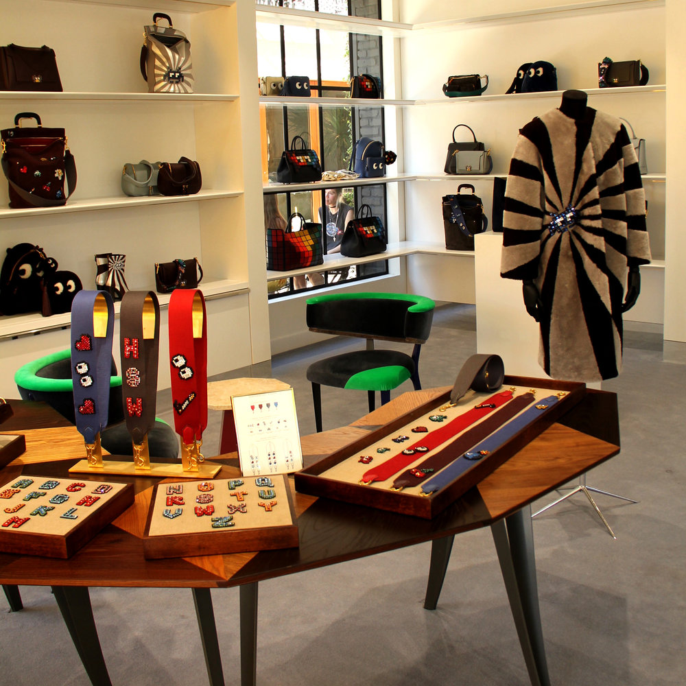 Anya Hindmarch, Melrose Place, Los Angeles, fashion, retail design