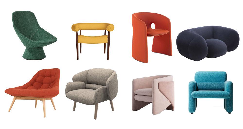 statement chairs, modern, designed, style, soft, furniture, interior design