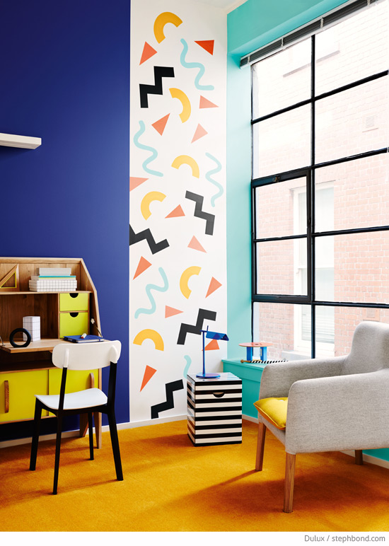 design by Bree Leech & Heather Nette King for Dulux, and photographed by Lisa Cohen