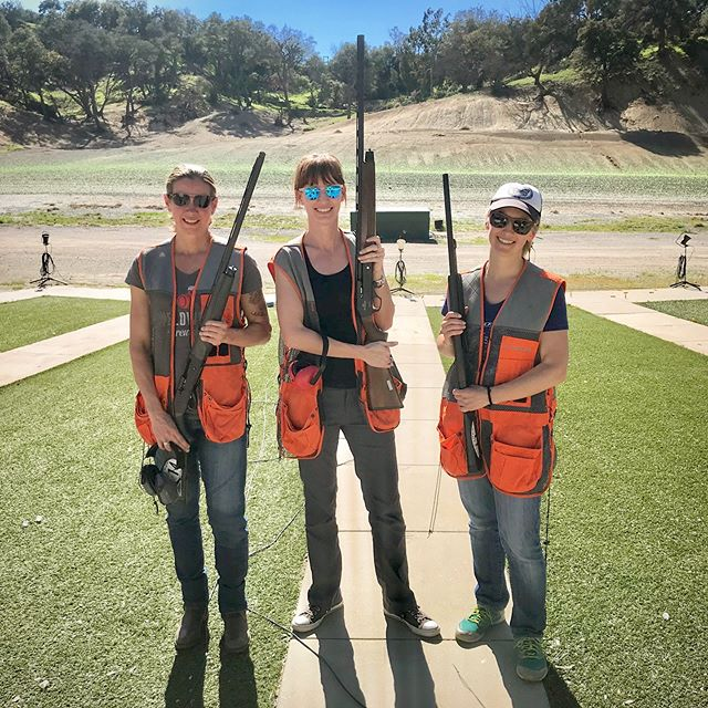 Nothing to see here. Just me and a couple of babes getting our bang bang on, slayin' clay. . . . #clayshooting #slayinclay #shootingrange #nailedit #giveagirltherightpairofsocks #andshecanhitthetarget #girltime