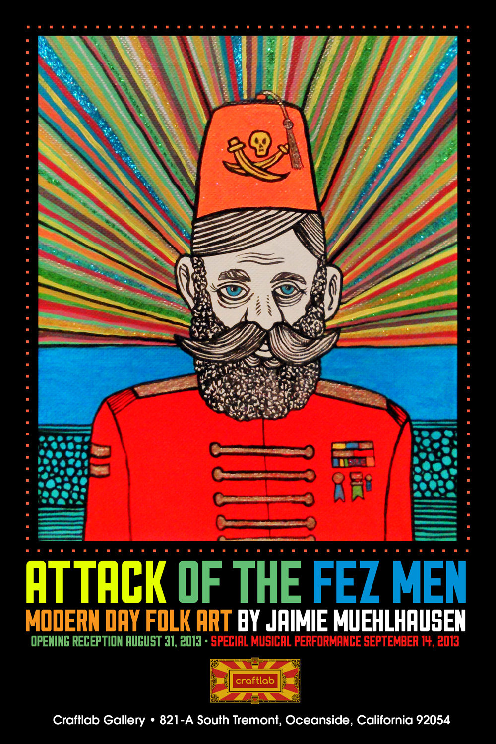 Attack of the Fez Men event poster