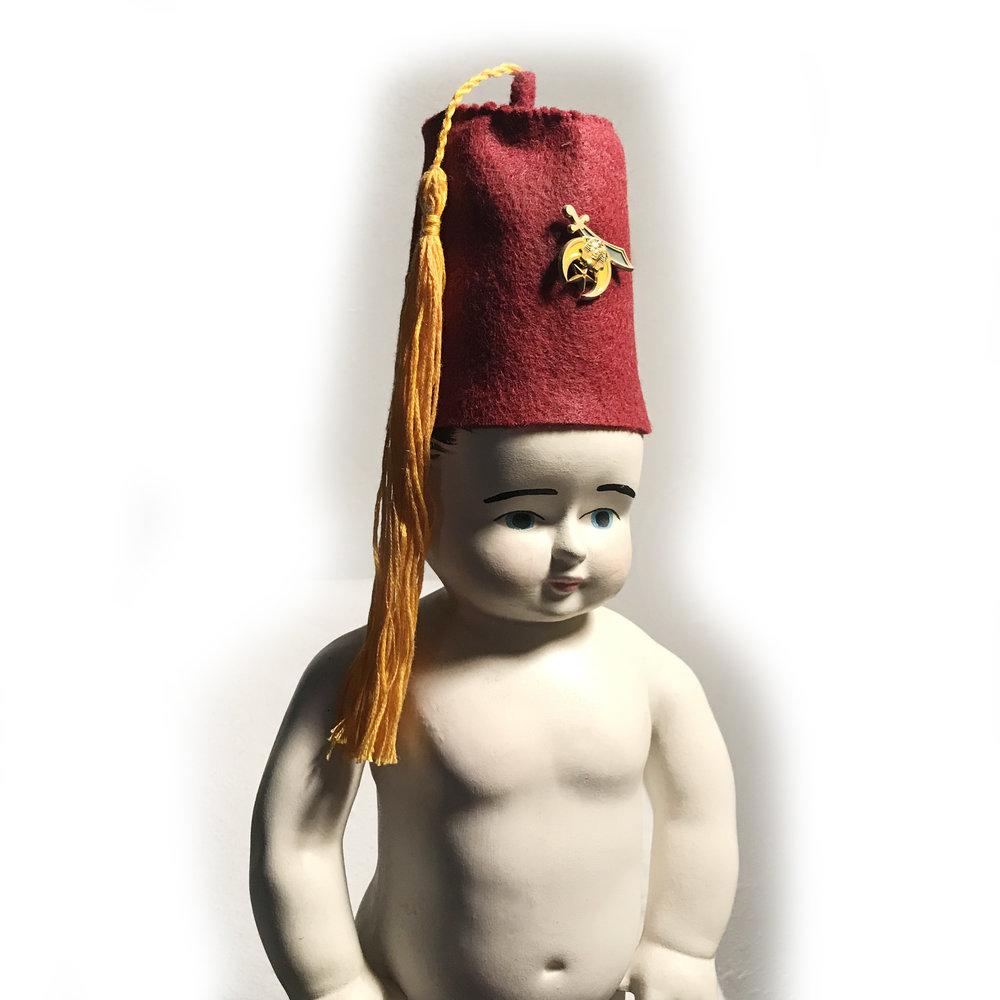 Original Art  Fez Baby Wish Box ccfacd51d93
