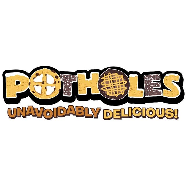 Unveiling a new logo just finalized for an awesome new food truck item in Shawnee, KS called Potholes. These things are amazing...a mix of Belgian waffle and cookie dough, cooked in the waffle maker and then drizzled with sugar or maple frosting. I'll be putting the food truck design and website together soon as well, but this gets things started. Fun design. #foodtruck #logo #logodesign #food #potholes #cookies #waffles