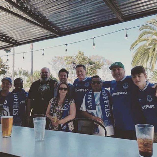 Fun hanging with the @sandiegotoffees this morning watching @everton take down Chelsea. And amazing breakfast at @crackheads in Carlsbad. Highly recommended.