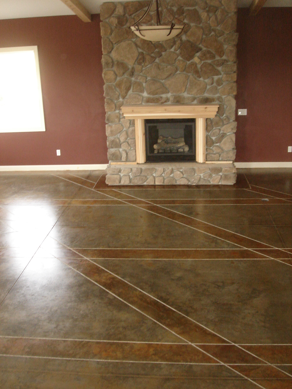 Acid stained floors are a staple of interior decorative concrete. They can be an excellent source of jobs during winter months.