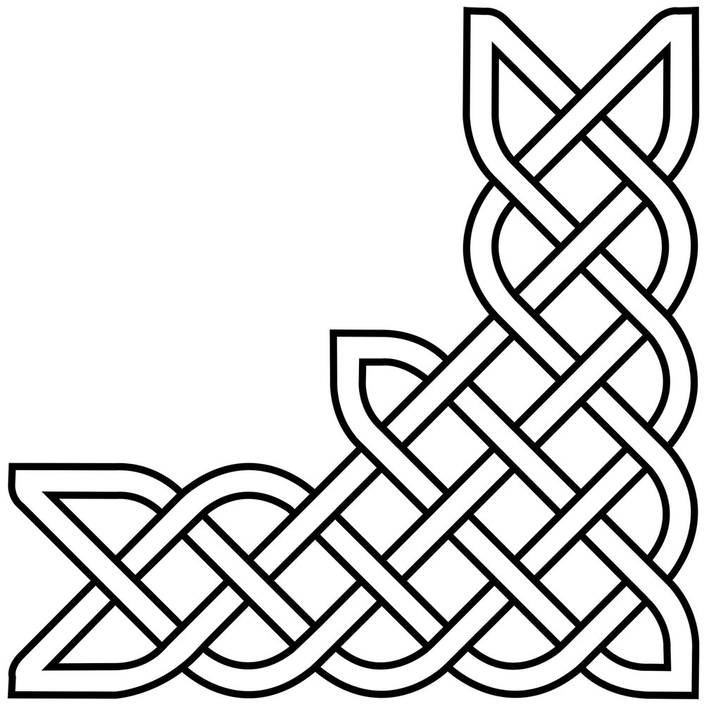 "Celtic Knot Corner, CD-2002, 12""x36""x36"""