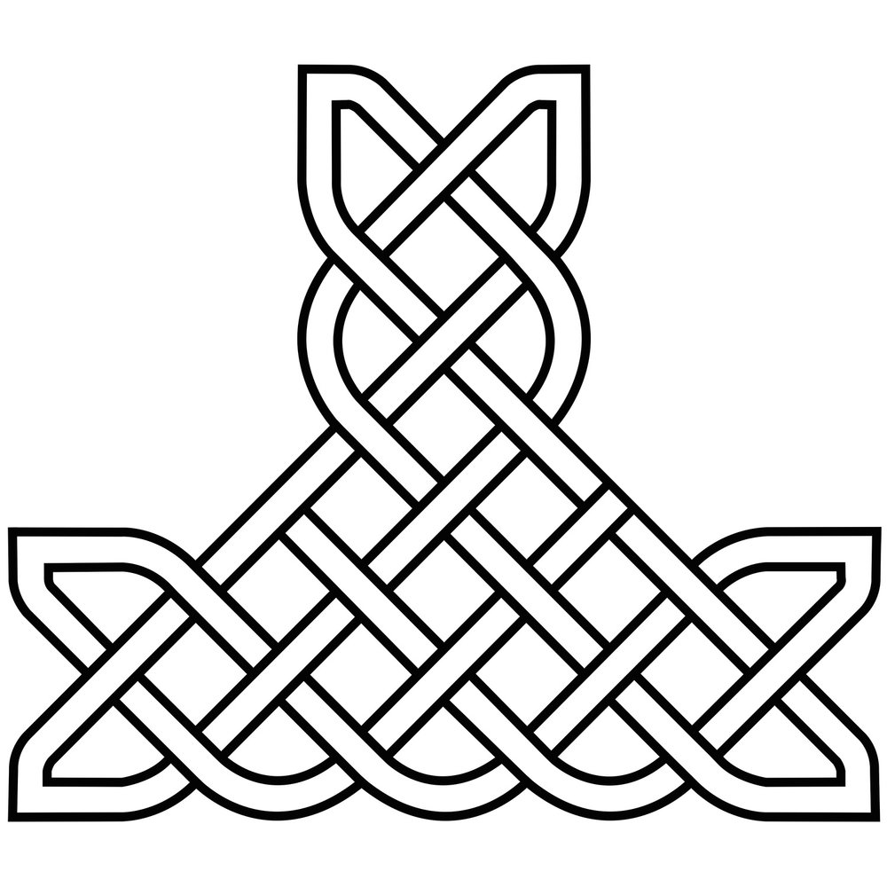 "Celtic Knot T-Piece, CD-2003, 12""x36""x36"""