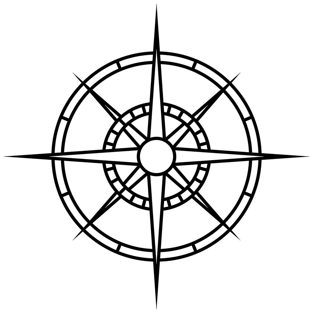 "Compass Rose Wide, CD-1000, 48""x48"""