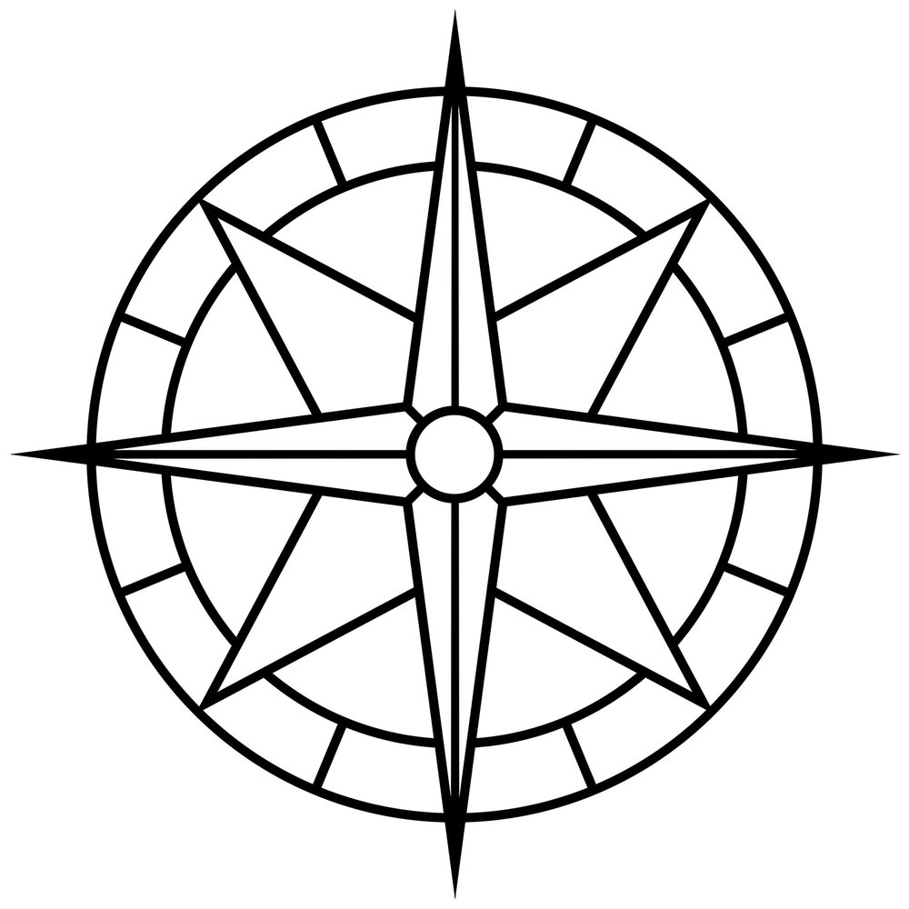 "Compass Rose Narrow, CD-1001, 48""x48"""