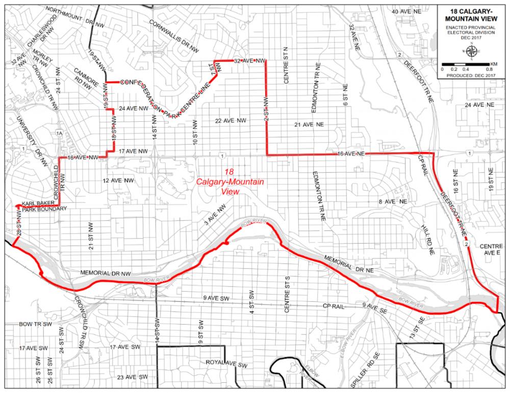 Calgary-Mountain View boundaries