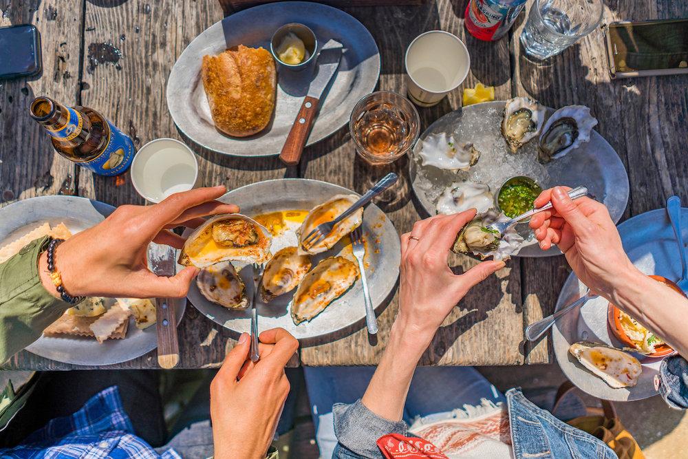 Hog Island Oysters, Marshall, Tomales Bay, California
