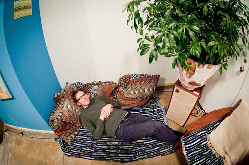 Joe Patitucci naps to plant music