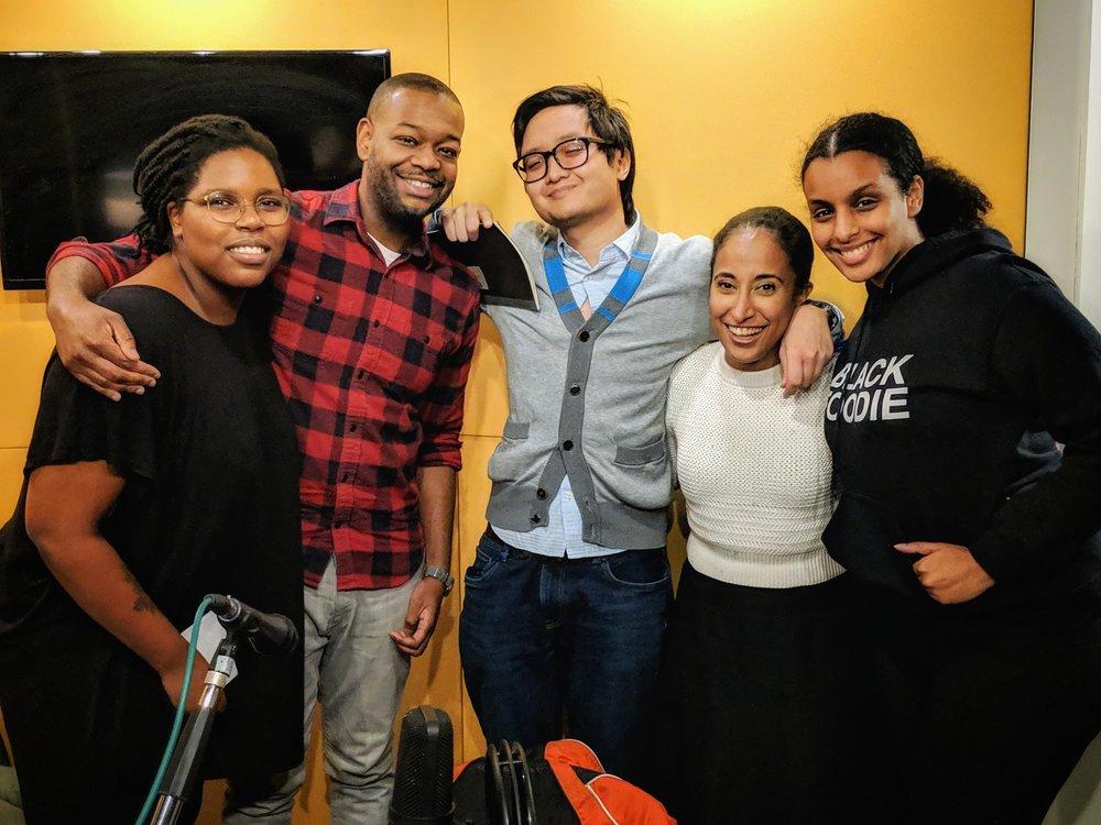 Left to Right: TK Matunda, Ryan Hinkson, Andrew Do, Aisha Silim, and Eden Hagos.  Photo: Ryan Hinkson