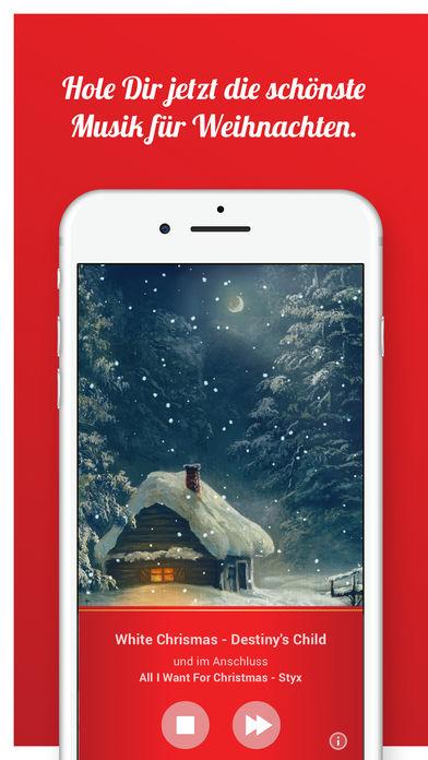 Die Weihnachtsradio-App mitSkip-Funktion -