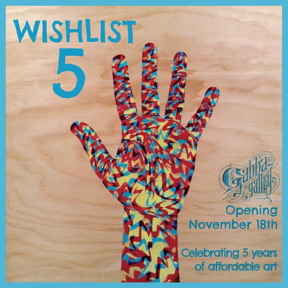 "artwork: Cyrus Howlett ""Five"" acrylic on plywood 24 x 24 inches"