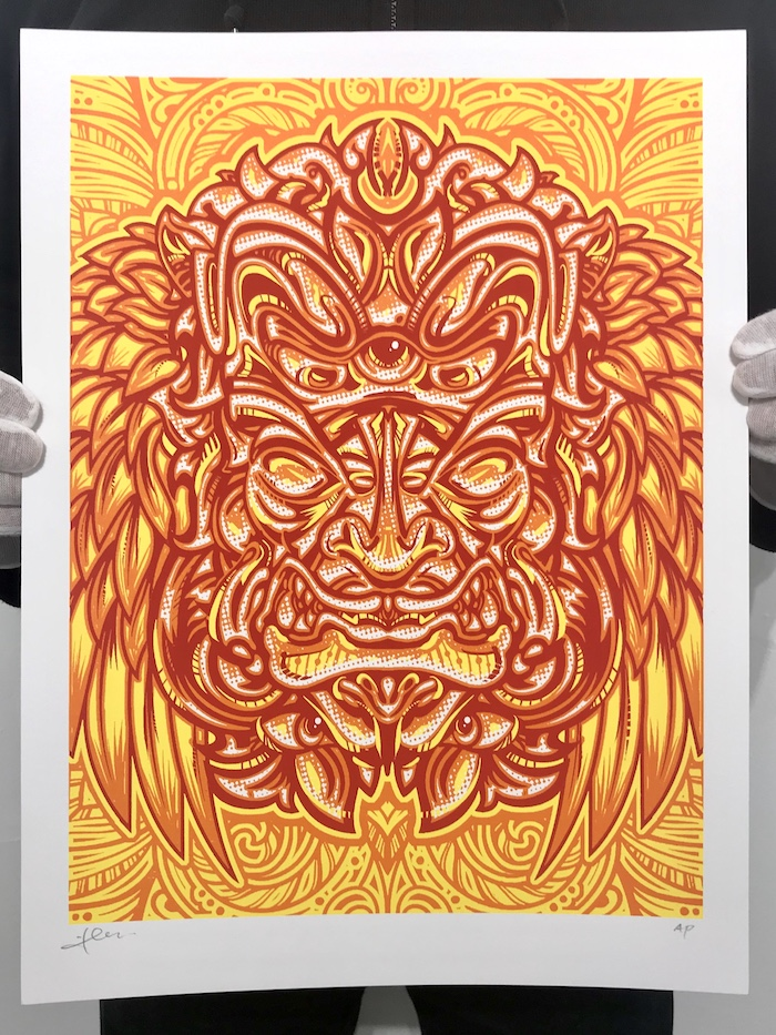 """JT Lucchesi """"Psymari Pt. 2"""" - Limited Edition Fine Art Printscreenprint16 x 12 inchesedition of 50signed and numbered$50available now in our PRINTS SHOP"""