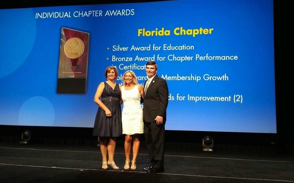 HFMA Chair 2014, Kari Cornicelli (L), HFMA FL Chapter President, Renee Jordan (C)and HFMA Chair 2013, Steve Rose (R)