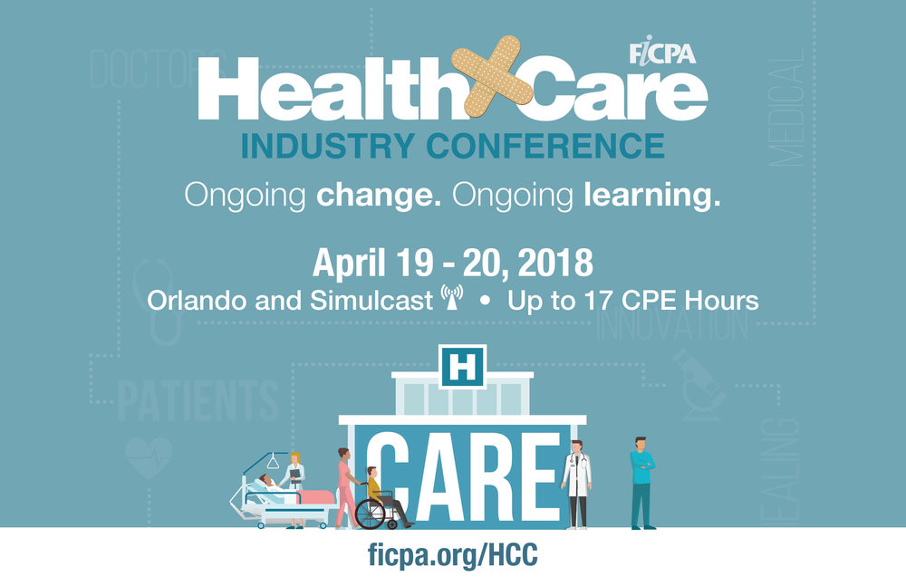 C    lick here for event details    Click here to view the brochure   HFMA Members receive a $250 discount on registration!  Use Promo Code 250HCC18  Plus save an additional $55 with the early registration rates!  Hurry! Early registration ends on March 22, 2018.  Questions about the conference?  Call toll-free 800-342-3197 or 850-224-2727 in FL.  Conference Location: Caribe Royale Resort Suites 8101 World Center Drive Orlando, FL 32821 (407) 239-8000 (mention FICPA for the group rate)