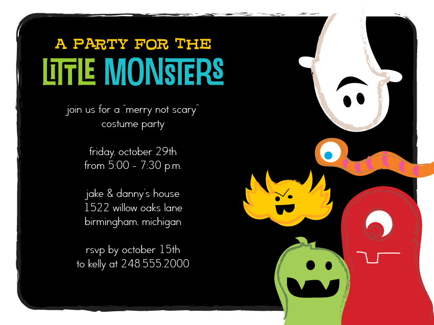 Halloween invitation for Shutterfly