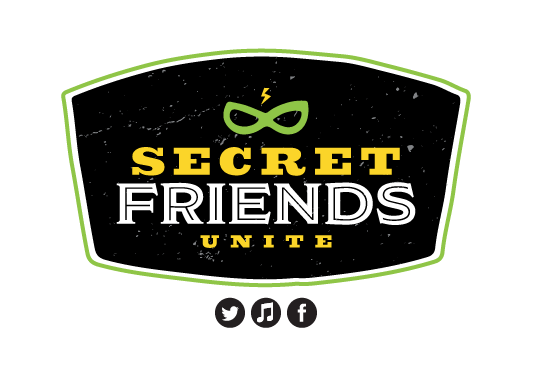 Logo design for the Secret Friends Unite podcast