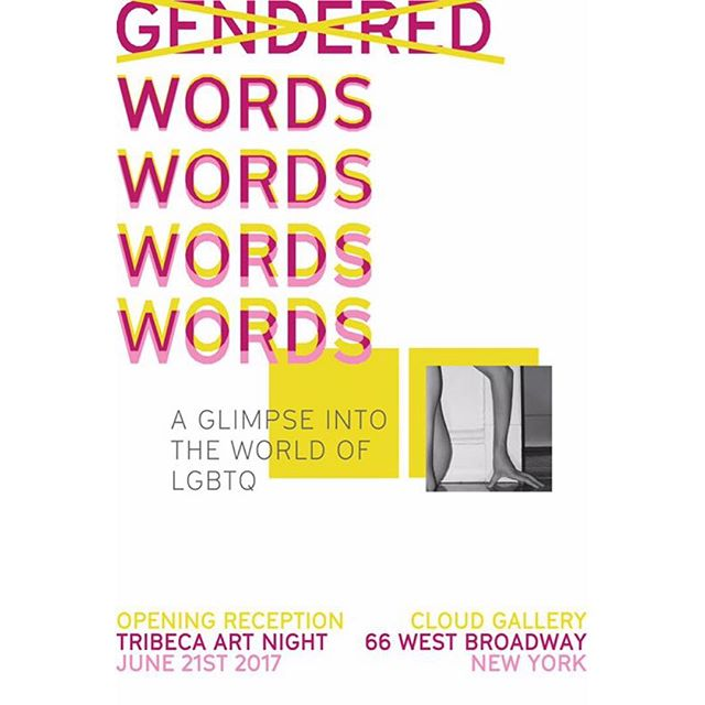 "We are so happy to bring our work The Boba Wall to join the TriBeCa Art Night: Special Exhibition | ""Gender words: a glimpse into the world of LGBTQ"". At @cloudgallerynyc Jun.21st from 6pm - 9pm. Looking forward to meet you there!"