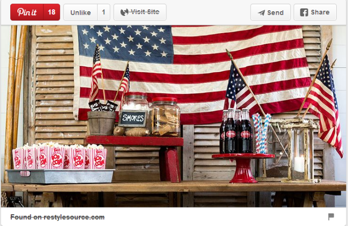 4th of July table decoration ideas. Credit: Pinterest