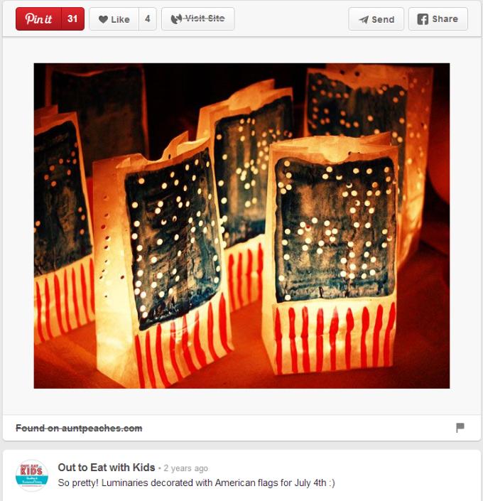4th of July Paper Lanterns (Credit: Pinterest)