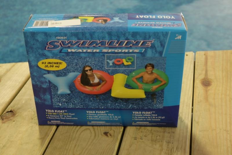 YOLO Float, Teenager Pool Toys