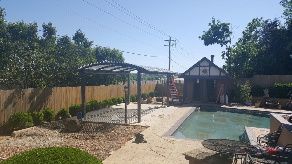 Steel Shade 4-Post Pergola