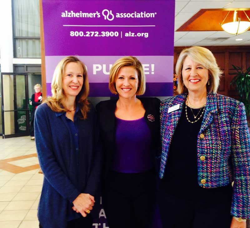 Mary Cail, Karen McNew (Channel 19 News Anchor), Sue FRiedman (President, Alzheimer's Association of Central and Western Virginia