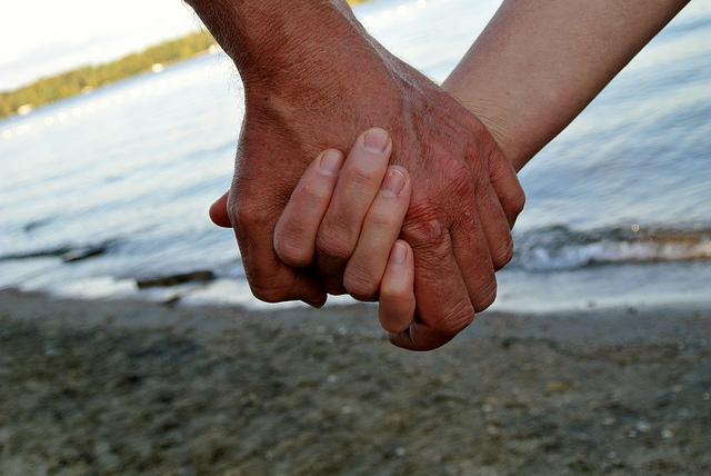 """A Pair of Hands-Holding Hands"" by   RichardBH,   via Flickr, ""Friendship in Alzheimer's"" announcement,  Creative Commons  verified 12/06/2106"