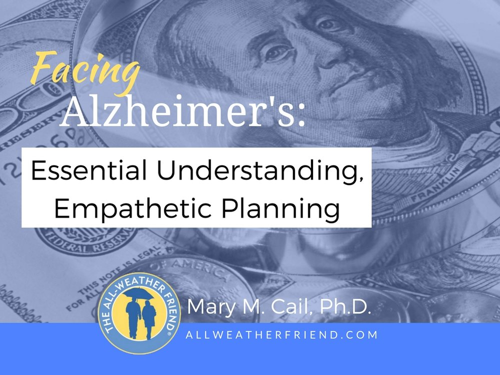 A webinar for financial planners, bankers, attorneys—anyone who helps manage the affairs of clients with Alzheimer's and caregiversYou'll learn:         0 false   18 pt 18 pt 0 0  false false false                     /* Style Definitions */ table.MsoNormalTable 	{mso-style-name: