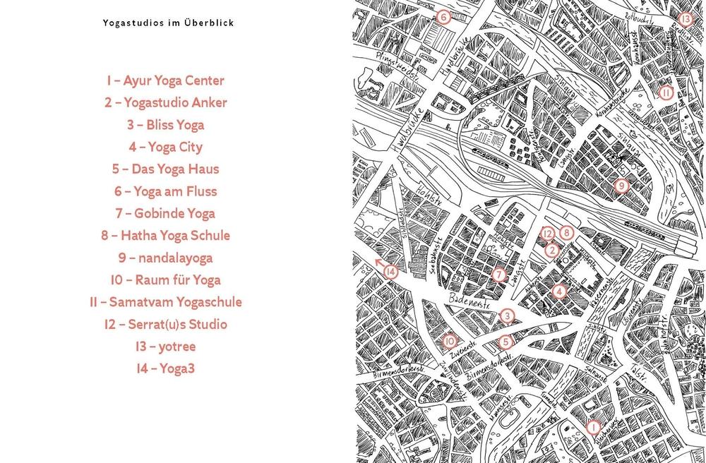 Das Yoga Gutscheinbuch für Zürich. Entdecke 14 besondere und charmante Yoga Studios in Zürich.