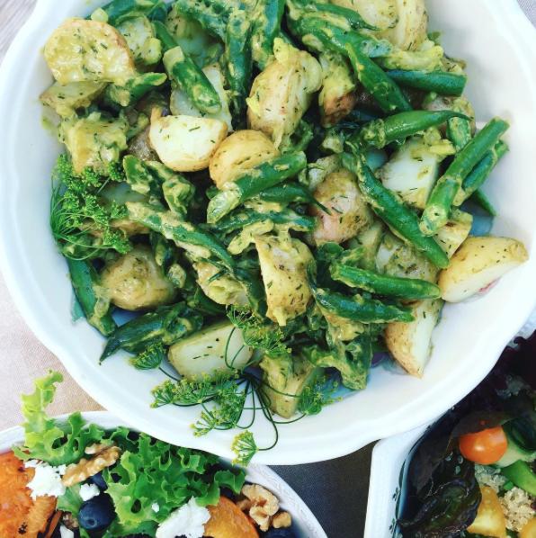 Creamy Avocado & Dill Nugget Potato Salad