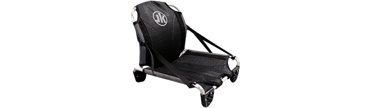 Jackson's new Ergo Seat is an upgrade with all new 3D breathable mesh fabric, improved lumbar support, strengthened supports for hi-low seating, additional storage spots and compatible with the newer track/hi-low systems being built at JK.