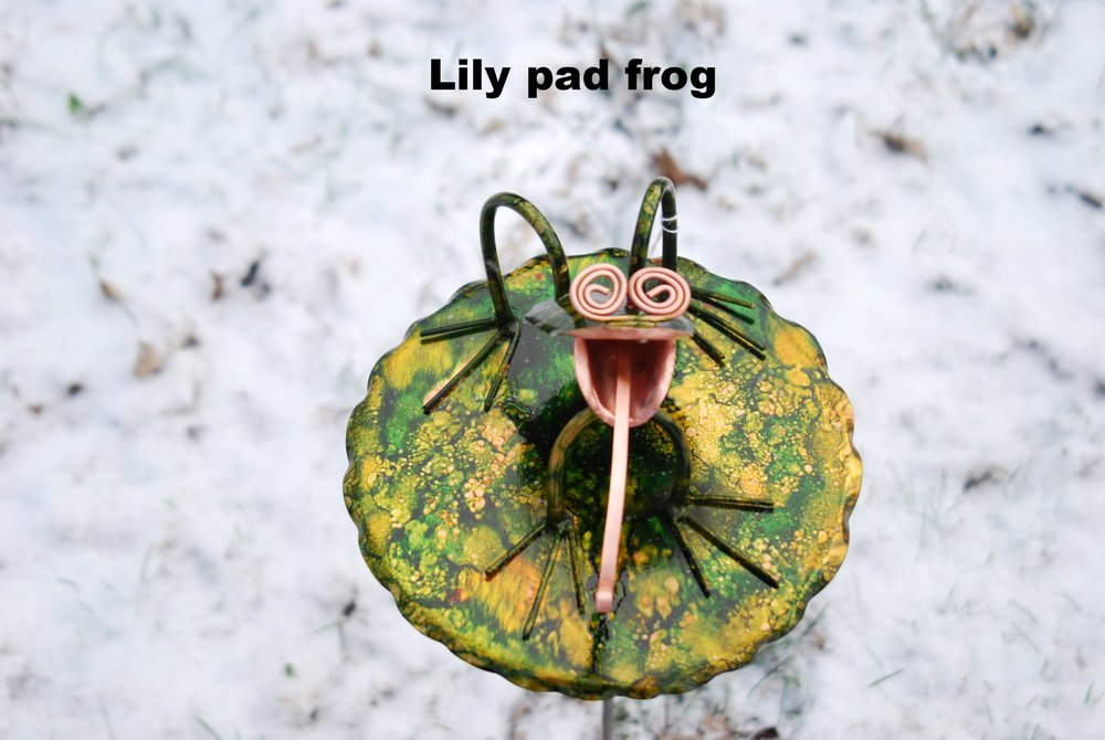 Lily pad frog