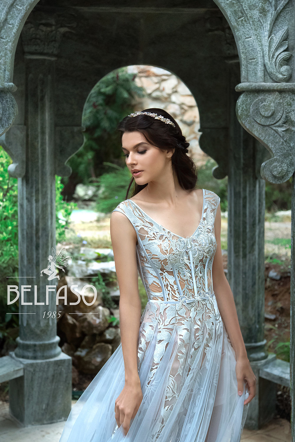 AKVA BLUE wedding dress by BELFASO