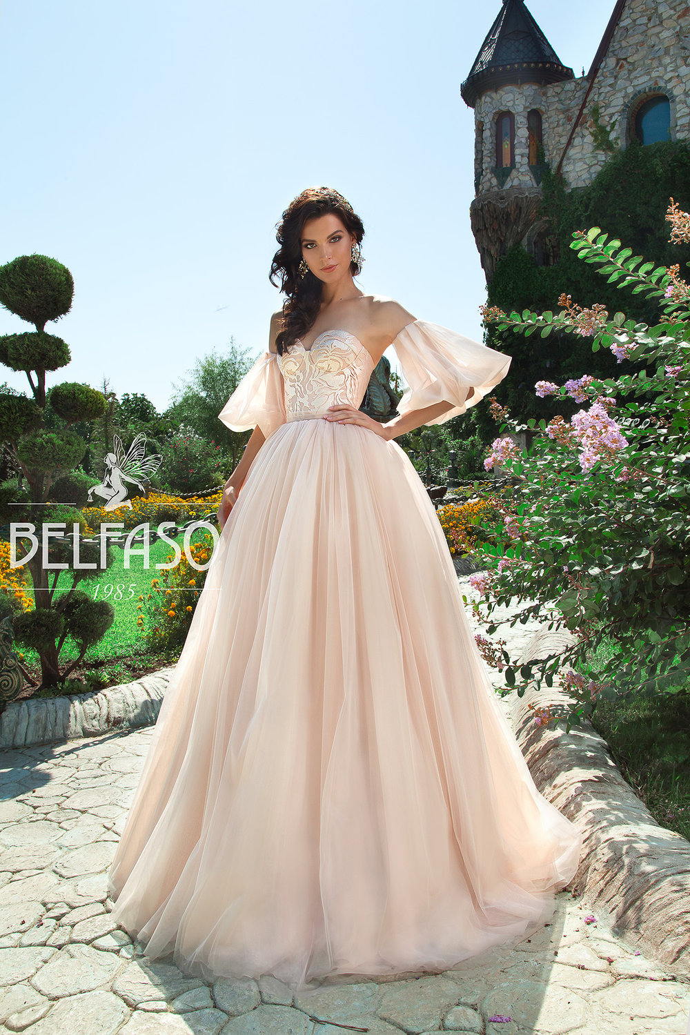 CARAMEL wedding dress by BELFASO
