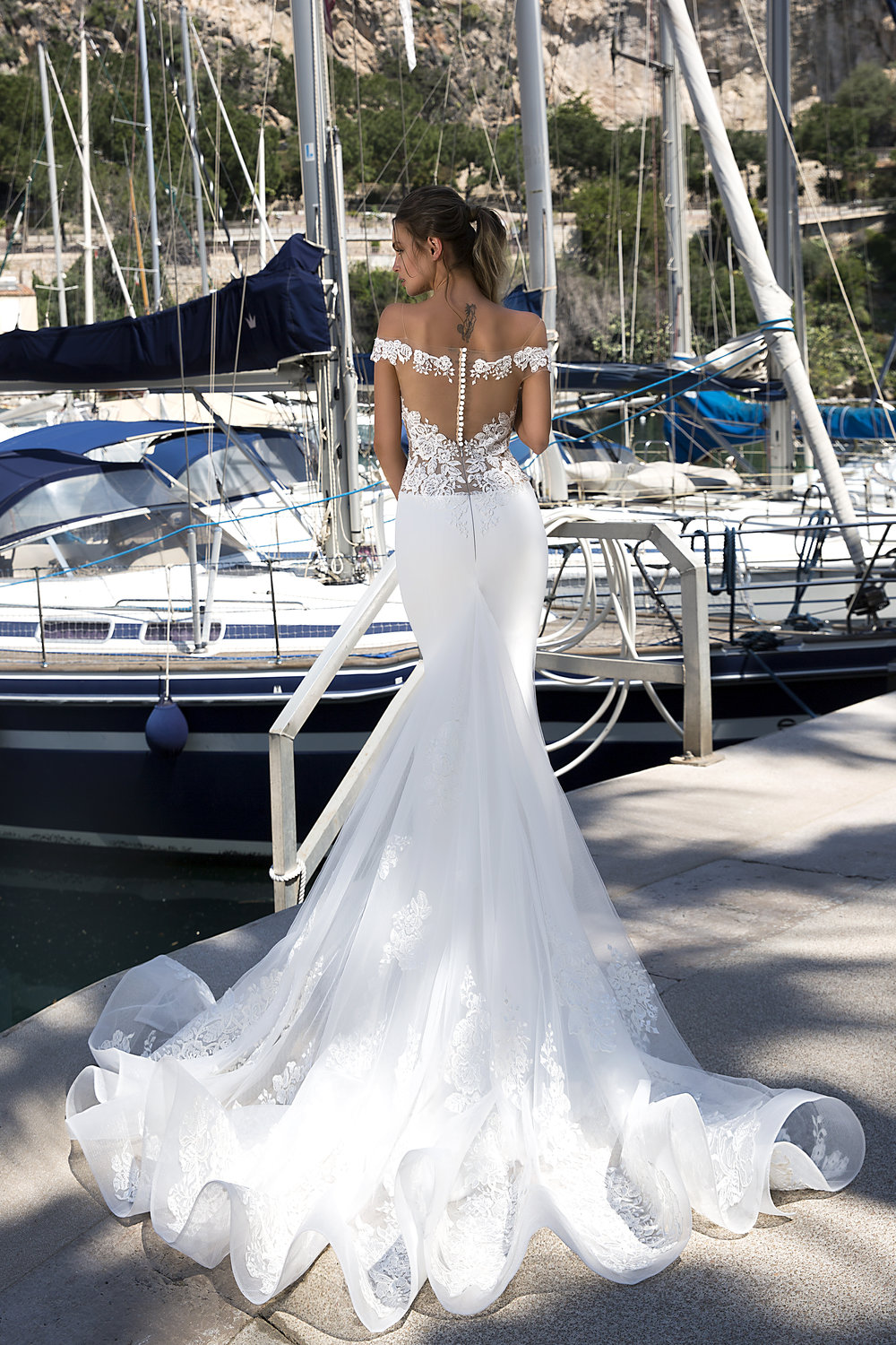 ALEKSANDRA wedding dress by TINA VALERDI