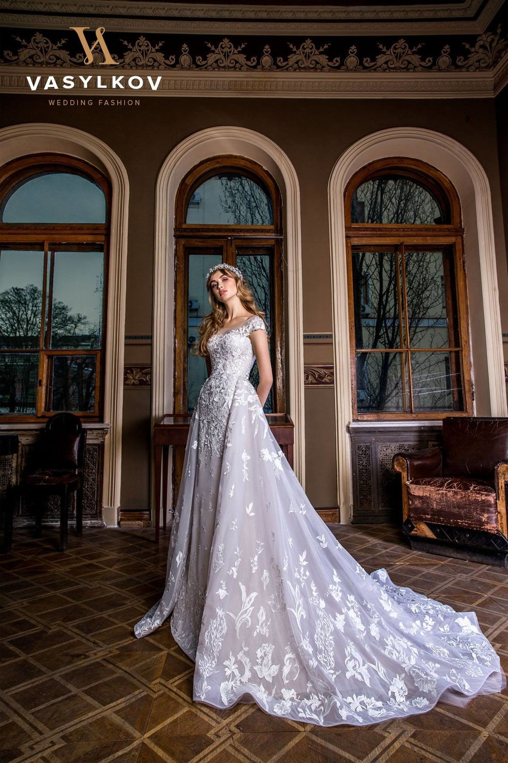 ERMINE wedding dress $1000